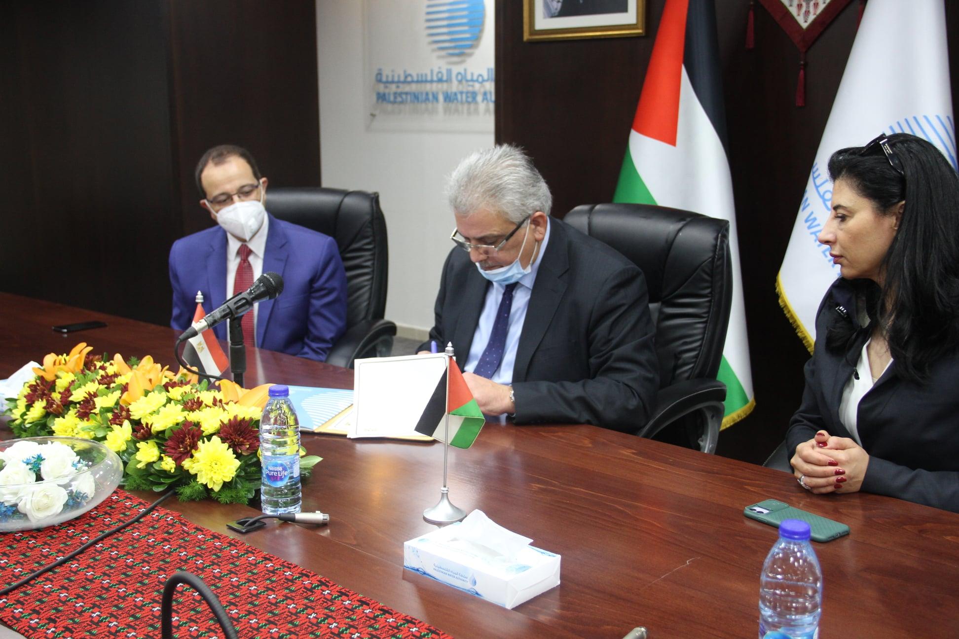 بمشاركة وزيري المياه الفلسطيني والمصري ... توقيع مذكرة تفاهم للتعاون الثنائي في مجال تطوير قدرات دولة فلسطين على إدارة الموارد المائية