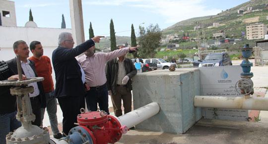 الوزير غنيم : نوكد على جهوزية المحطات والاستمرار بتزويد المياه الامنه في ظل الظروف الاستثنائية