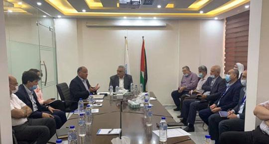 الوزير غنيم يلتقي ممثلي المنظمات والمؤسسات الدولية العاملة في قطاع المياه
