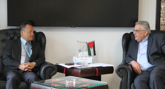 الوزير غنيم يلتقي مدير مكتب الامم المتحدة لخدمات المشاريع