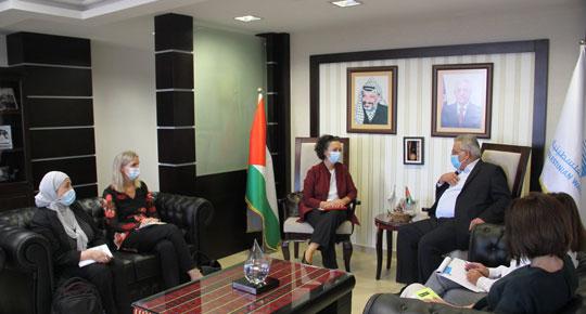 الوزير غنيم يبحث مع ممثلة منظمة اليونيسيف التعاون المشترك