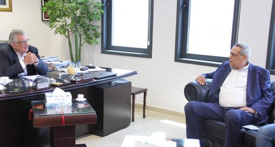 غنيم يستقبل رئيس بلدية عنبتا