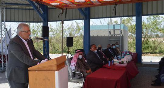 غنيم: البدء في تنفيذ المشروع الوطني الأول بتمويل من صندوق المناخ الأخضر ... وضع حجر الأساس للمرحلة الأولى لمشروع الري الزراعي في شمال غزة