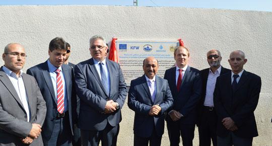 غزة: افتتاح مشروع تطوير مرافق الصرف الصحي في منطقتي عامر والبركة غزة- سلطة المياه