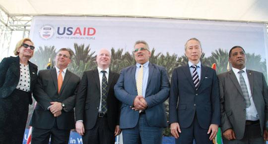 بحضور ممثل الرئيس الامريكي لعملية السلام اطلاق المرحلة الثانية من مشروع محطة الصرف الصحي اريحا