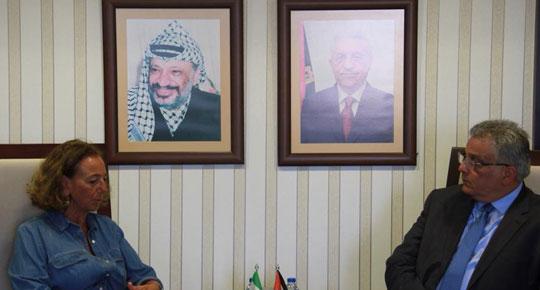 الوزير غنيم يلتقي مديرة التعاون الايطالي