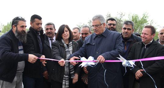 الوزير غنيم يفتتح مشاريع مائية في جماعين ويتفقد الوضع المائي في روجيب في محافظة نابلس