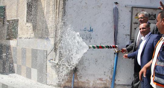 رئيس سلطة المياه يفتتح مشاريع مائية تطويرية في محافظة طولكرم