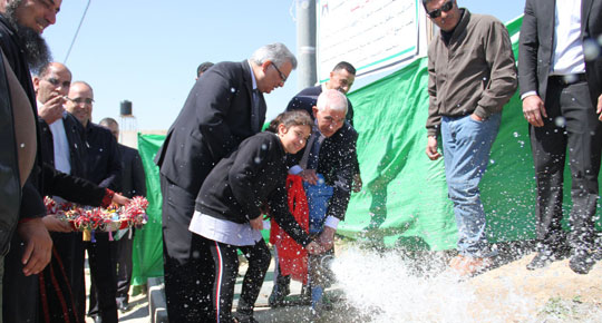 الوزير غنيم يفتتح جملة من المشاريع المائية في محافظة بيت لحم