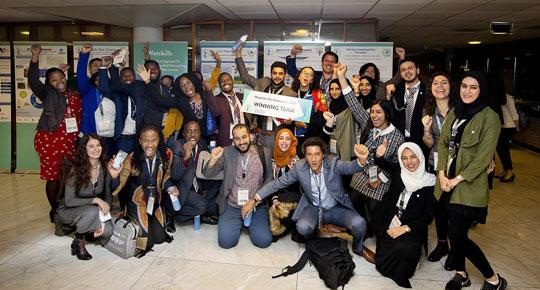 مشاركة  فاعلة للجنة شباب قطاع المياه في أسبوع المياه الدولي في هولندا