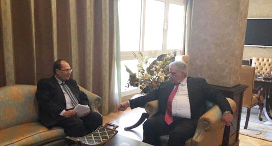 م. غنيم يلتقى الرئيس والامين العام للمجلس العربي للمياه